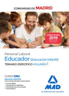 Inmaswan.es Educador (Educación Infantil). Personal Laboral De La Comunidad De Madrid Temario Especifico (Vol. 1) Image