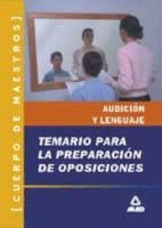 Geekmag.es Cuerpo De Maestros. Temario Para Preparacion De Oposiciones. Tema Rio De Audicion Y Lenguaje (2ª Ed.) Image