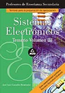 Srazceskychbohemu.cz Cuerpo De Profesores De Enseñanza Secundaria: Sistemas Electronic Os: Temario (Vol. Iii) Image