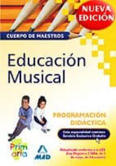 Inmaswan.es Cuerpo De Maestros: Educacion Musical (Programacion Didactica) Image