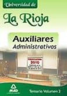 Canapacampana.it Auxiliares Administrativos De La Universidad De La Rioja. Temario Volumen Ii Image