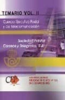 Chapultepecuno.mx Cuerpo Ejecutivo Postal Y De Telecomunicacion: Temario (Vol. Ii) Image