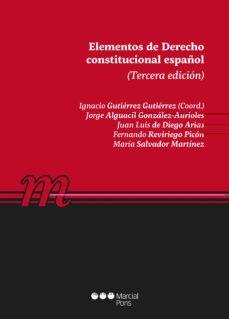 Descargar ELEMENTOS DE DERECHO CONSTITUCIONAL ESPAÃ'OL gratis pdf - leer online
