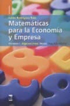 Vinisenzatrucco.it Matematicas Para Economia Y Empresa V I. Algebra.teoria Image