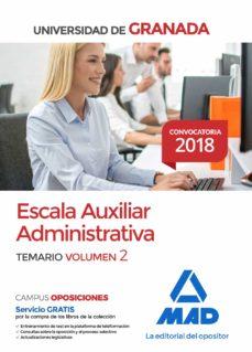 Padella.mx Escala Auxiliar Administrativa De La Universidad De Granada. Tema Rio Volumen 2 Image