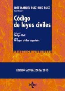 Cronouno.es Codigo De Leyes Civiles: Contiene El Codigo Civil Y Otras Cincuen Ta Leyes Civiles Especiales (3ª Ed.) Image