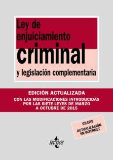 Srazceskychbohemu.cz Ley De Enjuiciamiento Criminal Y Legislacion Complementaria (16ª Ed.) Image