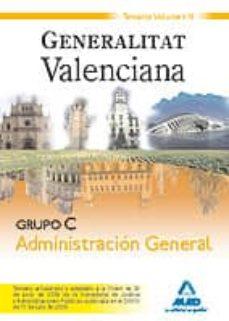 Costosdelaimpunidad.mx Grupo C Administración General. Generalitat Valenciana. Temario Volumen Iii Image