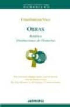 obras ii: retorica (instituciones de oratoria)-giambattista vico-9788476587041