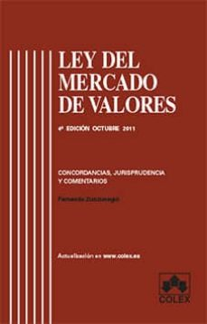 Curiouscongress.es Ley Del Mercado De Valores ( 4ª Ed. 2011) Image