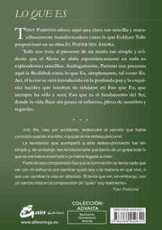 lo que es: el secreto abierto a una vida despertada-tony parsons-9788484450641