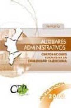 Padella.mx Auxiliares Administrativos Corporaciones Locales De La Comunidad Valenciana. Temario Oposiciones Image