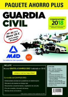 Iguanabus.es Paquete Ahorro Plus Guardia Civil 2018: Temarios 1 Y 2; Test; Simulacros De Examen 1 Y 2; Simulacros De Examen De Ingles; Test De Ortografia, Psicotecnicos Y De Personalidad; Ingles; Pruebasfisic Image