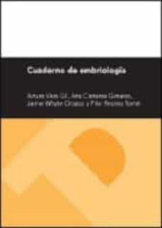 Descargar Ebook for gre gratis CUADERNO DE EMBRIOLOGÍA de ARTURO VERA GIL 9788415274551 (Spanish Edition) PDF FB2 RTF