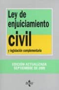 Permacultivo.es Ley De Enjuiciamiento Civil Y Legislacion Complementaria (10ª Edi .) Image