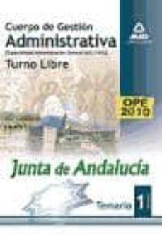 Valentifaineros20015.es Cuerpo De Gestion Administrativa Especialidad Administracion Gene Ral (A2 1100). Turno Libre. Temario Vol. I Image
