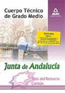 Cuerpo Tecnico De Grado Medio De La Junta De Andalucia Test Tema O Comun Vv Aa Comprar Libro 9788467662351