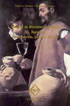 barroco: introduccion, prosa y poesia (manual de literatura españ ola, t. iii)-felipe b. pedraza jimenez-9788485511051