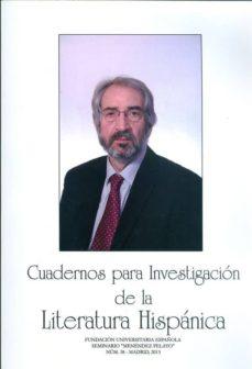 Srazceskychbohemu.cz Cuadernos Para Investigacion De La Literatura Hispanica Nº 38 Image