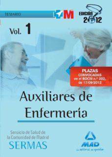 Javiercoterillo.es Auxiliares De Enfermeria Del Servicio De Salud De La Comunidad De Madrid. Temario (Vol. I) Image