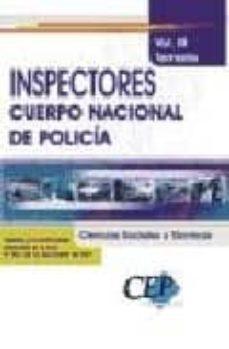 Vinisenzatrucco.it Inspectores Del Cuerpo Nacional De Policia. Temario (Vol. Iii: Ci Encias Sociales Y Tecnicas) Image