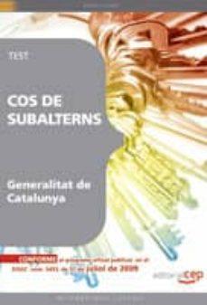 cos de subalterns de la generalitat catalunya. test-9788499248561