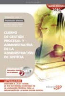 Mrnice.mx Cuerpo De Gestion Procesal Y Administrativa De La Administracion De Justicia. Promocion Interna. Temario Vol. I. Image