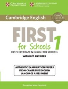 Ebook descarga gratuita deutsch ohne registrierung CAMBRIDGE ENGLISH FIRST 1 FOR SCHOOLS FOR REVISED EXAM FROM 2015 STUDENT S BOOK WITHOUT ANSWERS (Spanish Edition) 9781107692671 de