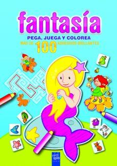 fantasia: pega, juega y colorea: azul-9788408089971