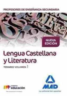 Geekmag.es Cuerpo De Profesores De Enseñanza Secundaria: Lengua Castellana Y Literatura: Temario Image