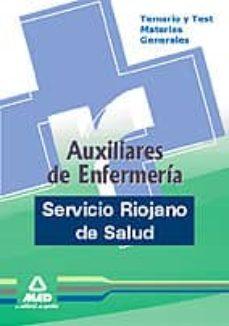 Inmaswan.es Auxiliares De Enfermeria Del Servicio Riojano De Salud. Temario Y Test De Materias Generales Image
