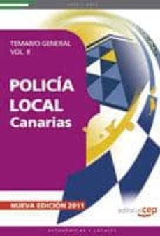 policia local de canarias: temario general (vol. ii) (3ª ed.)-9788468119571