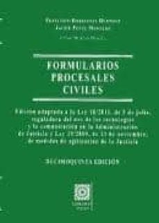 Descargar FORMULARIOS PROCESALES CIVILES gratis pdf - leer online