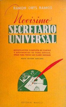 NOVÍSIMO SECRETARIO UNIVERSAL - RAMÓN ORTS RAMOS | Adahalicante.org