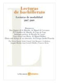 Inmaswan.es Lecturas De Bachillerato: Lecturas De Modalidad 2007 - 2009 Image