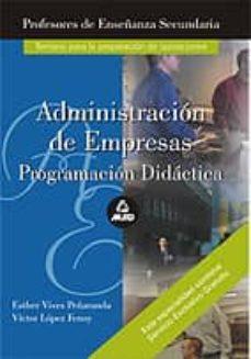 Inmaswan.es Administracion De Empresas: Programacion Didactica, Temario Image