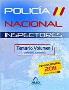 Trailab.it Inspectores Del Cuerpo Nacional De Policia. Temario Volumen I. Ci Encias Juridicas Image