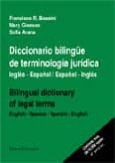 Javiercoterillo.es Diccionario Bilingüe De Terminologia Juridica: Ingles-español, Es Pañol-ingles = Bilingual Dictionary Of Legal Terms: English-spanish, Spanish-english Image