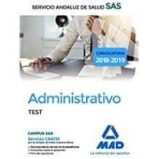 administrativo del servicio andaluz de salud: test-9788414217191