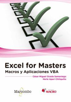 excel for masters: macros y aplicaciones vba-herle apari c�sar miguel oceda-9788426723291