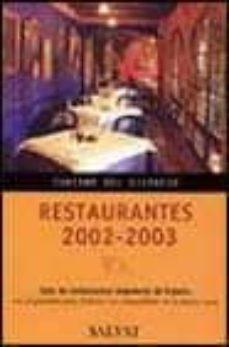Debatecd.mx Restaurantes 2002-2003: Guia De Restaurantes Singulares De España Image