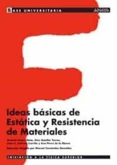 ideas basicas de estatica y resistencia de materiales-9788466743891