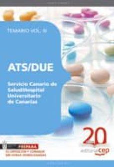 Inmaswan.es Ats/due Servicio Canario De Salud/hospital Universitario De Canar Ias. Temario Vol. Iii. Image