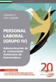 Elmonolitodigital.es Grupo Iv Personal Laboral De La Administración De La Comunidad Au Tonoma Extremadura. Temario Y Test Comun Image
