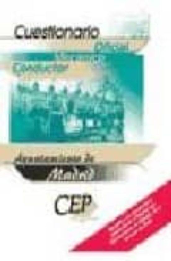 OFICIAL MECANICO CONDUCTOR AYUNTAMIENTO DE MADRID: CUESTIONARIO