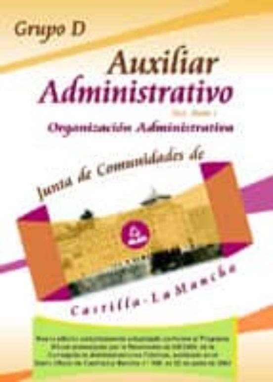 AUXILIAR ADMINISTRATIVO: TEST PARTE 1ª. JUNTA DE COMUNIDADES DE C ASTILLA-LA MANCHA