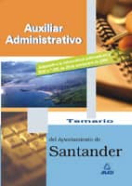 AUXILIAR ADMINISTRATIVO DEL AYUNTAMIENTO DE SANTANDER: TEMARIO