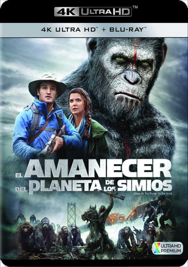 el amanecer del planeta de los simios - 4k uhd + blu ray --8420266008084