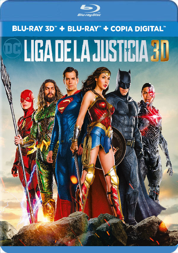 liga de la justicia - blu ray 3d --8420266013484
