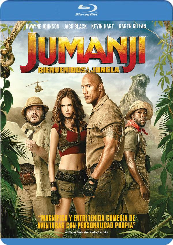 jumanji: bienvenidos a la jungla - blu ray --8414533111751